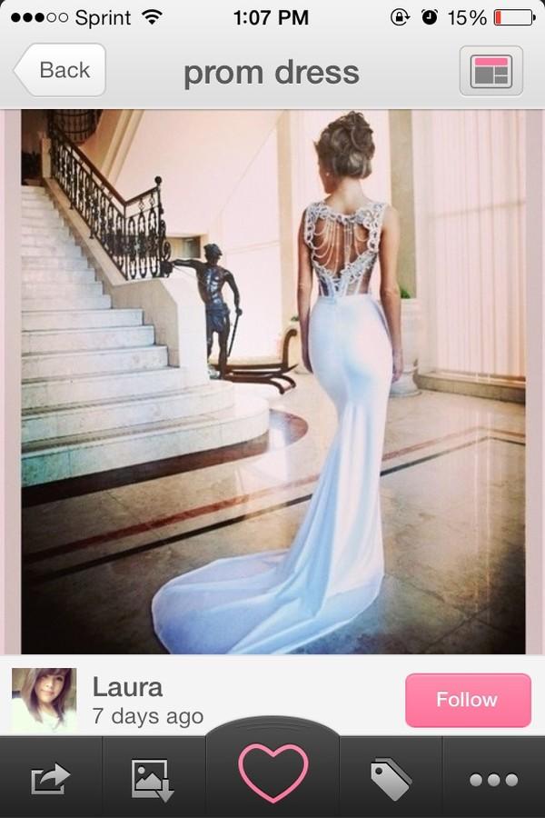 dress prom dress long prom dress evening dress blue dress