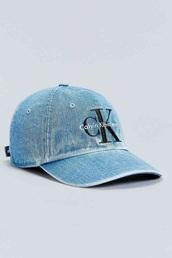 hat,calvin klein,denim,blue