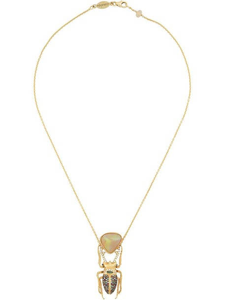 women opal necklace pendant gold grey metallic jewels