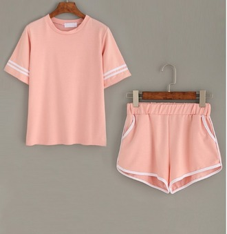 shorts girl girly girly wishlist pink matching set two-piece