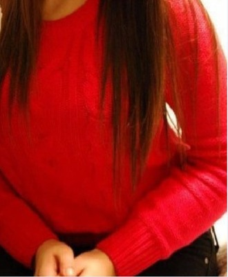 top red top sweater long sleeves
