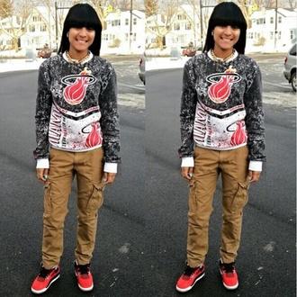 shirt miami heat crewneck sweater dope nba pants