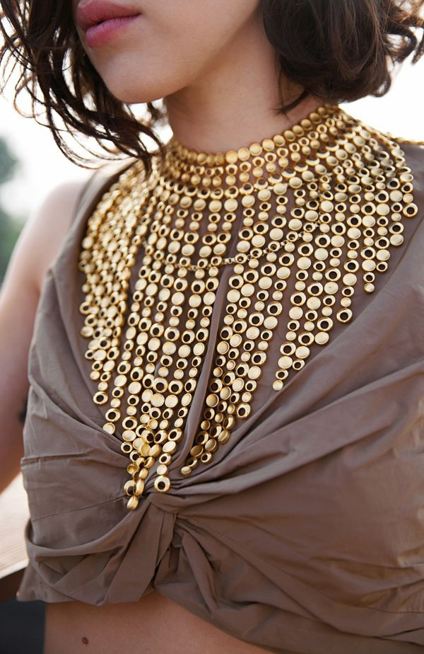 jewels gold tiger rose statement necklace necklace