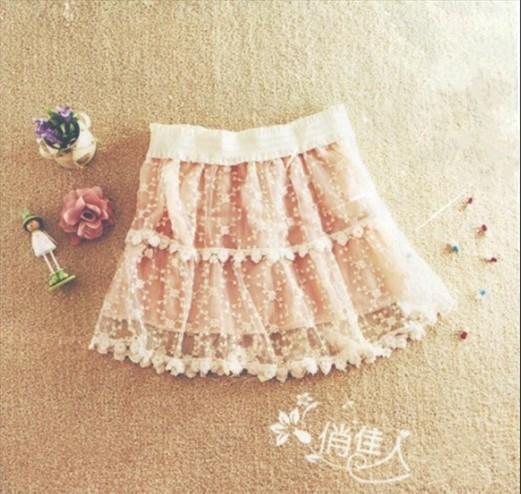 Sweet Lace Lap Halter Girdle Princess Skirt Beige (US$ 17.43 / US$ 19.92)