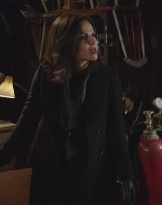 coat evil queen lana parrilla once upon a time show black
