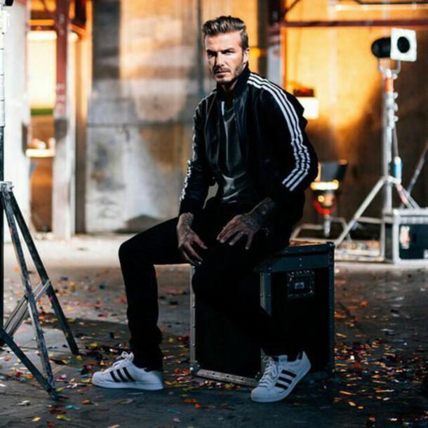 shoes adidas superstars adidas david beckham white