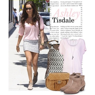 shirt ashley tisdale skirt pink
