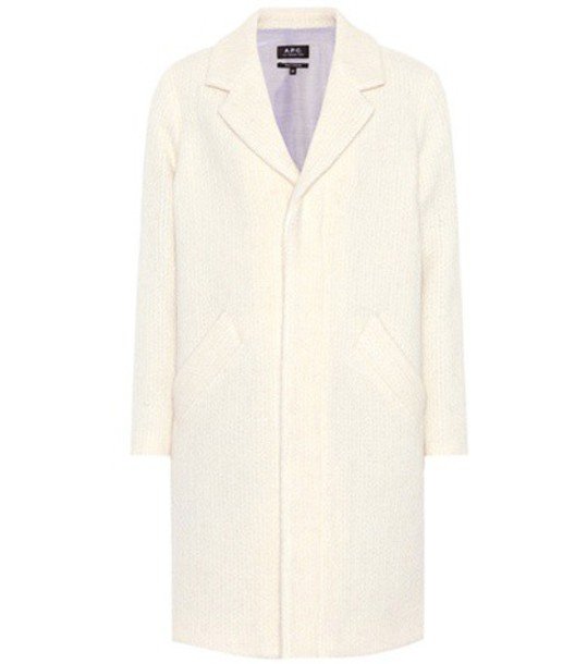 A.P.C. coat mohair wool white