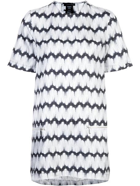 Thomas Wylde dress shirt dress t-shirt dress women black silk