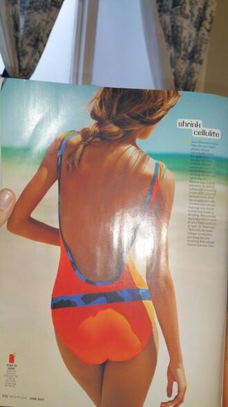 swimwear orange health magazine one piece one piece swimsuit camouflage