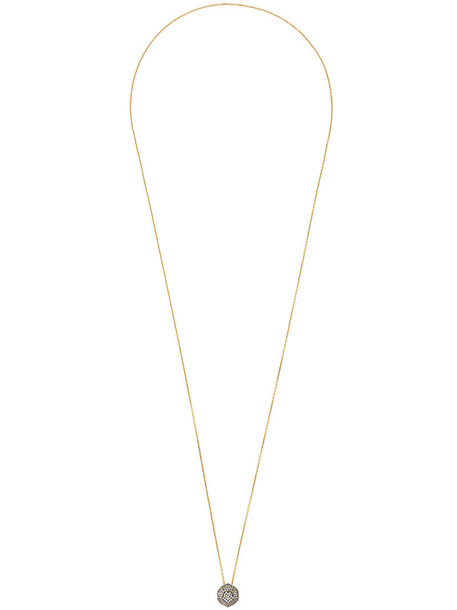 women necklace pendant gold white yellow jewels