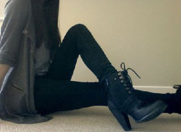 shoes boots heels heel boots lace up boots combat boots edgy bold