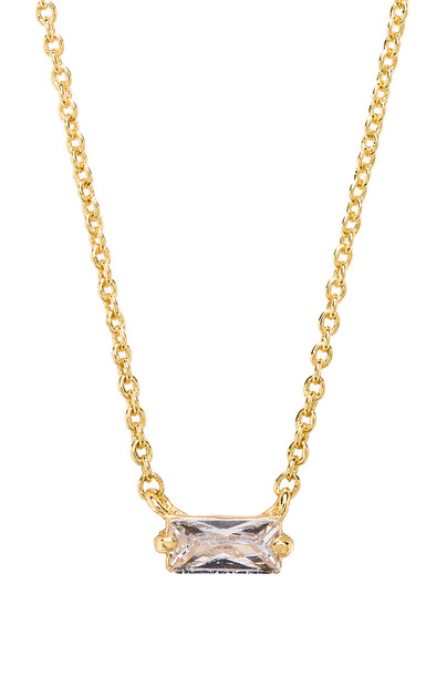 gorjana Amara Solitaire Necklace in gold / metallic