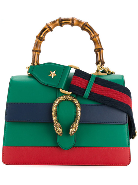 gucci women leather green bag
