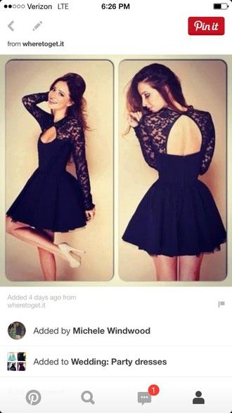 dress black cocktail lace