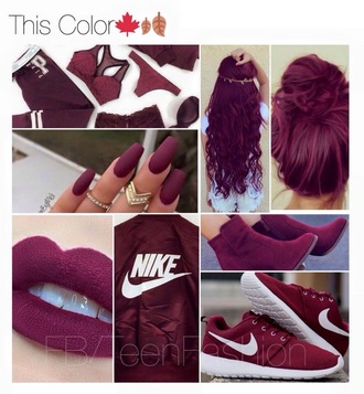 shoes burgundy sweater top clothes hair nails bra underwear jacket lips hair accessory dress