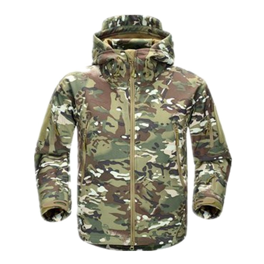 Amazon.com : freesoldier men's outdoor waterproof shark skin soft shell fabric jacket windproof warm outwaer camouflage clothing for military enthusiasts, cp camo : sports & outdoors