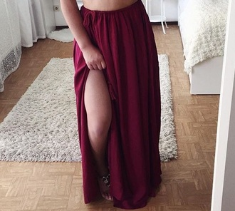 skirt maxi skirt maxi red red skirt red bottoms long long skirt elegant amazing stunning outfit summer summer outfits hot beautiful purple purple skirt