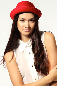 Amanda Ribbon Band Bowler Hat at boohoo.com