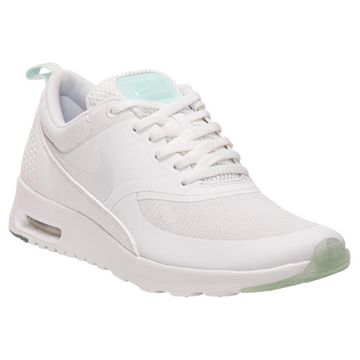 Women's Nike Air Max Thea Premium Running Shoes | FinishLine.com | White/White/Mint Candy