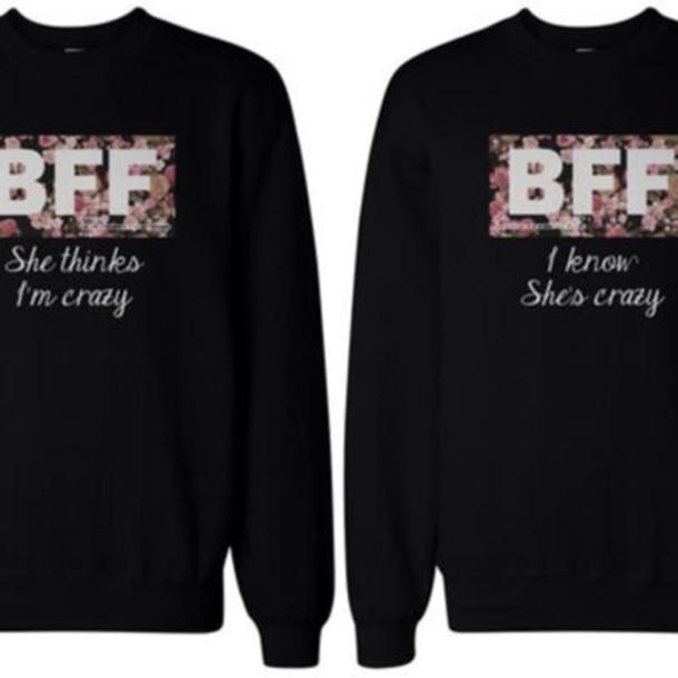 sweater black flower print jacket bff sweaters black sweater