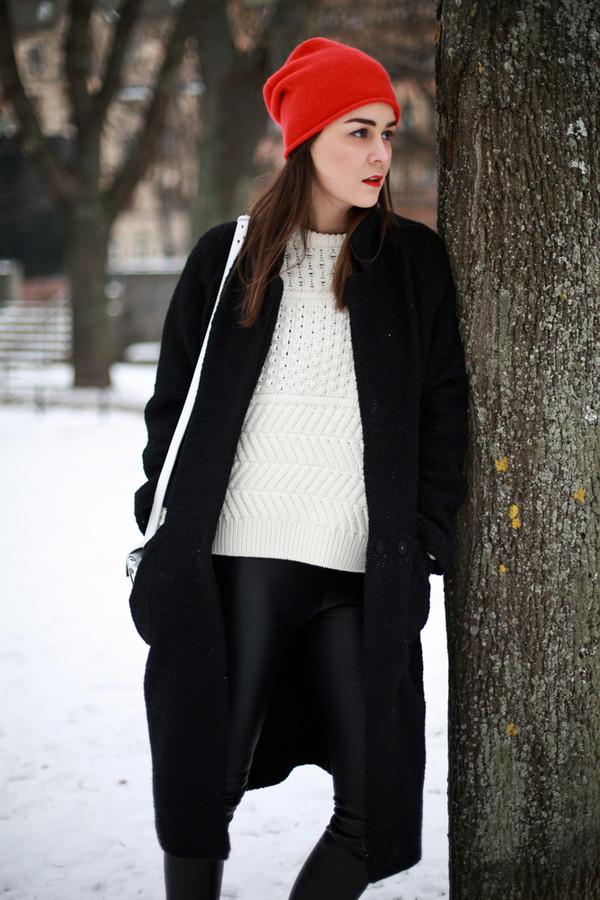 style scrapbook pants bag shoes sweater coat hat