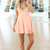 SABO SKIRT  Peach Lissa Dress - Peach - 52.0000