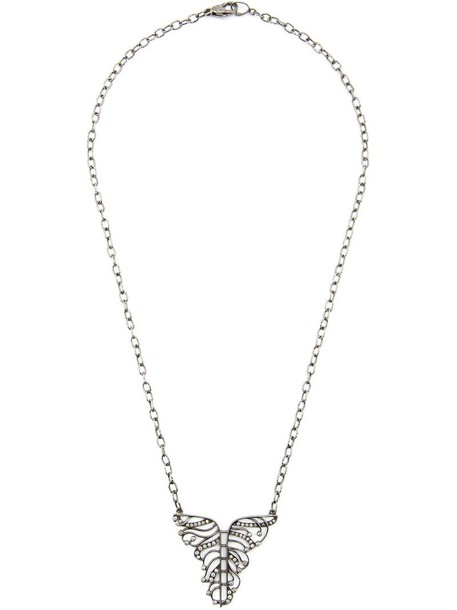 Loree Rodkin women necklace diamond necklace gold white grey metallic jewels