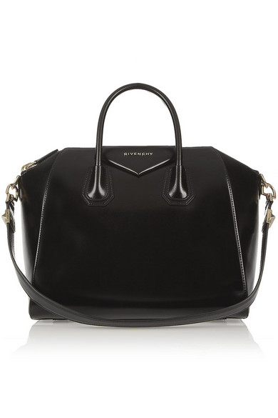 Givenchy | Medium Antigona bag in shiny black leather | NET-A-PORTER.COM