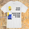 Blue jeans white shirt homer simpson t-shirt - teenamycs