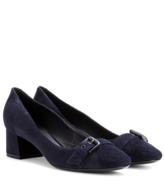 Bottega Veneta suede pumps pumps suede blue shoes