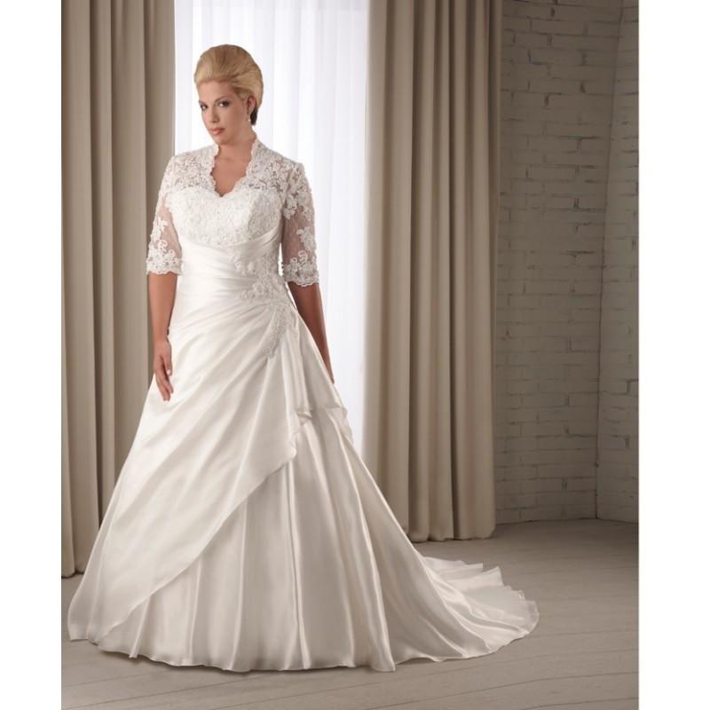 Bonny Unforgettable 1206 Plus Size Wedding Dress Crazy Sale Bridal