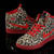 Air Jordan AJ 1 Women Red Leopard Shoes