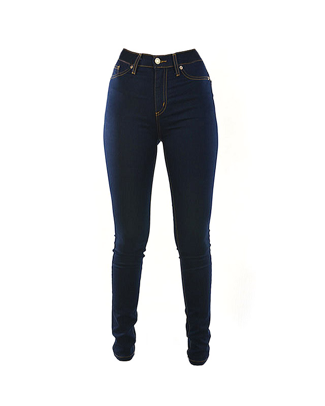dark denim high waist jeans | classic denim | 7twentyfour.com