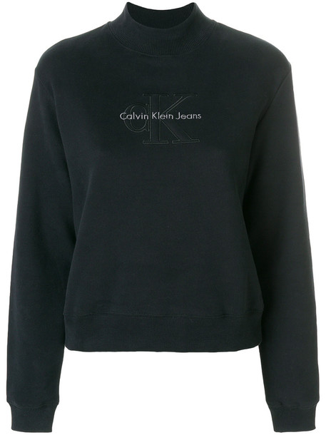 Ck Jeans sweatshirt women cotton black sweater