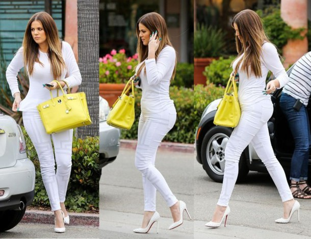 Jeans: khloe, white, sexy, saucy, white on white, clingy, t-shirt ...
