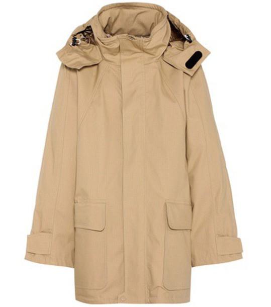 Balenciaga coat cotton beige