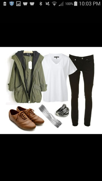 jacket oxfords t-shirt jeans