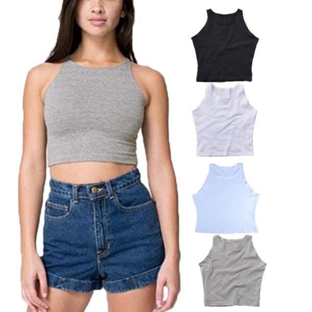 t-shirt crop tops summer shirt