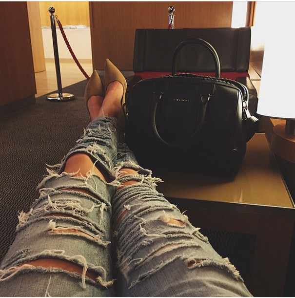 ripped jeans bag