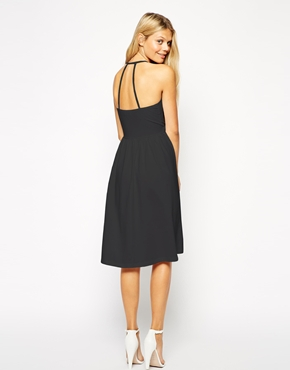 Asos midi sundress with strappy back and wrap front at asos.com