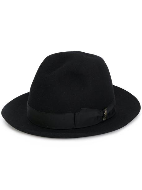 Borsalino fur women classic hat fedora black