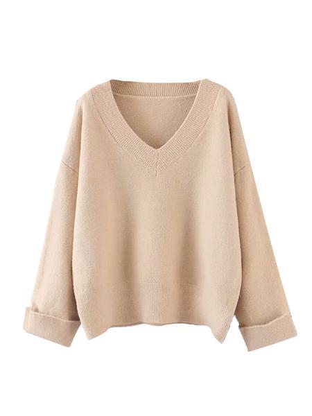 'Tata' Soft V-Neck Sweater (3 Colors)