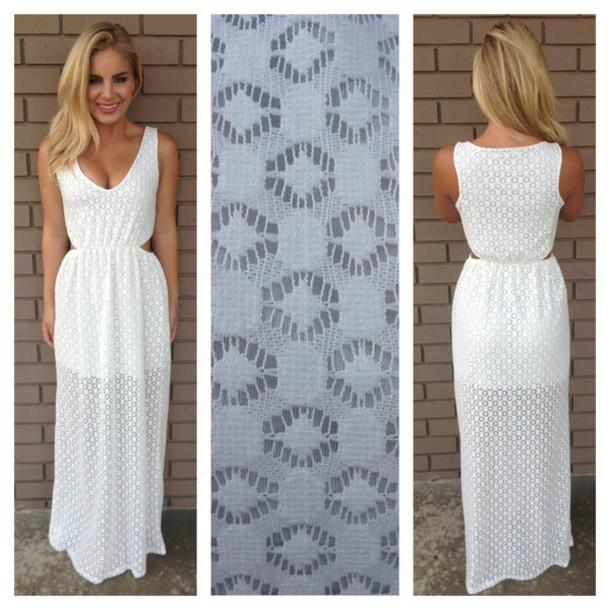 bohemian white summer beach dress