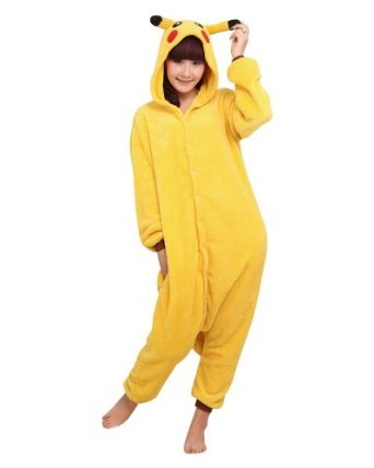 Amazon.com: YiTao Deal Anime Pokemon Pikachu Romper Pajamas Costume Cosplay Outfit Size M: Clothing