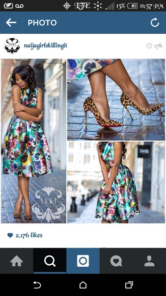 dress flowers watercolor dress over the knee