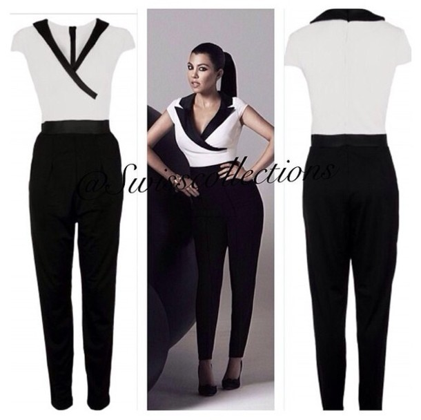 Black N White Jumpsuit | Fashion Ql