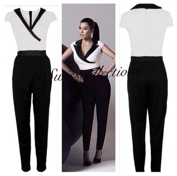e8e3ca6f1ea9 Black N White Jumpsuit