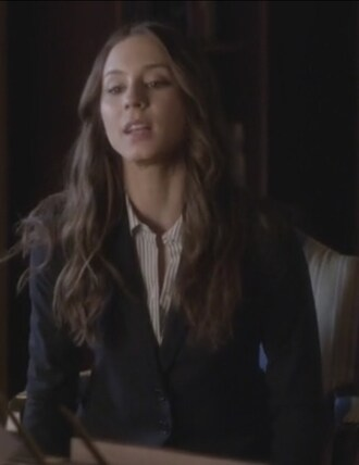 skirt blazer pretty little liars spencer hastings troian bellisario navy