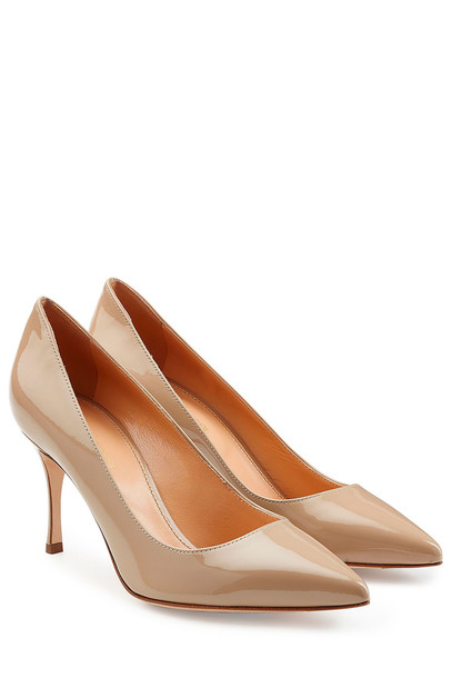 Sergio Rossi pumps leather grey shoes